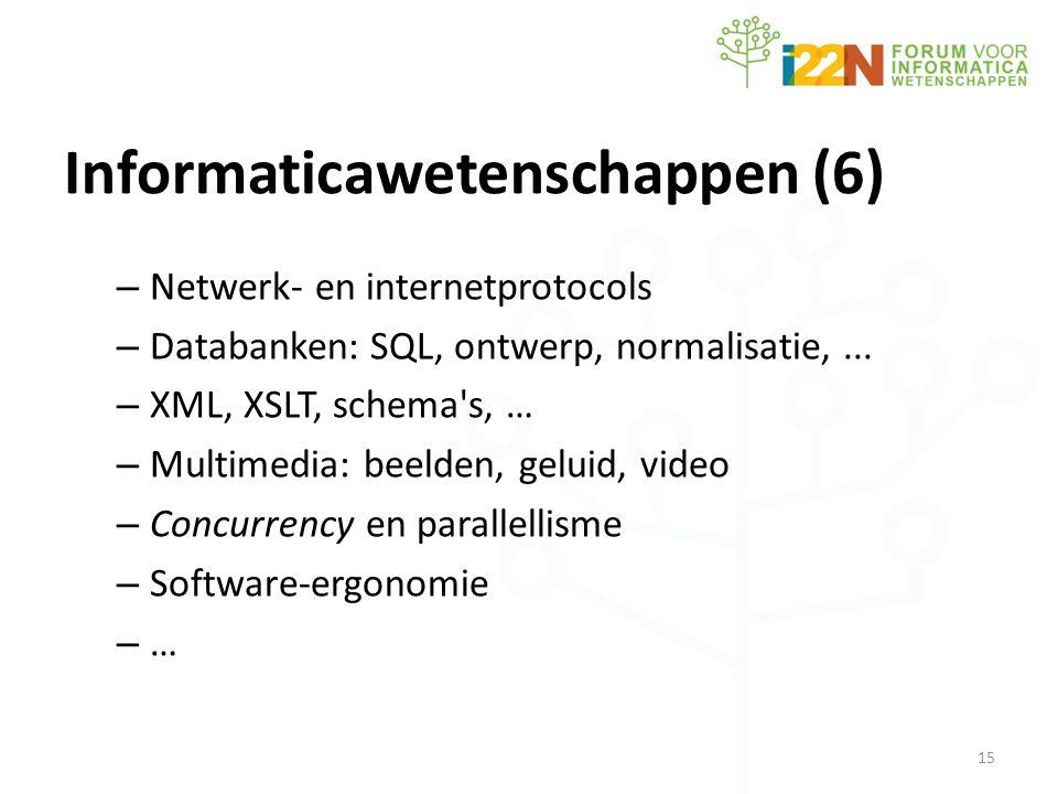 Informaticawetenschappen (6) – Netwerk- en internetprotocols – Databanken: SQL, ontwerp, normalisatie,...