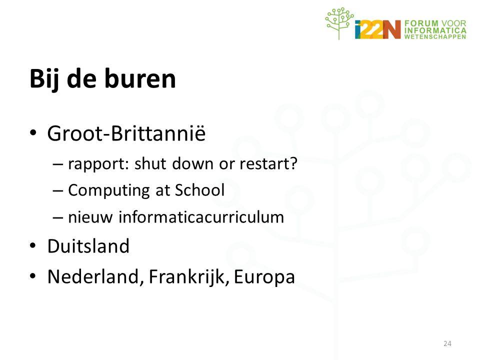 Bij de buren • Groot-Brittannië – rapport: shut down or restart.