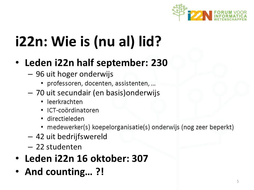 i22n: Wie is (nu al) lid.