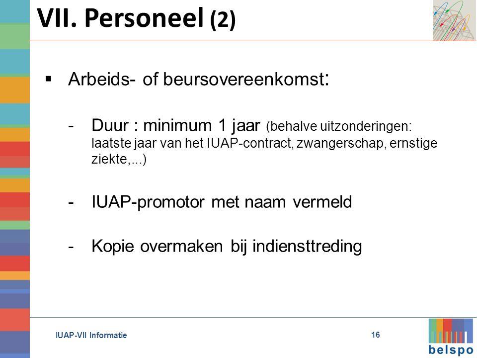 IUAP-VII Informatie VII.