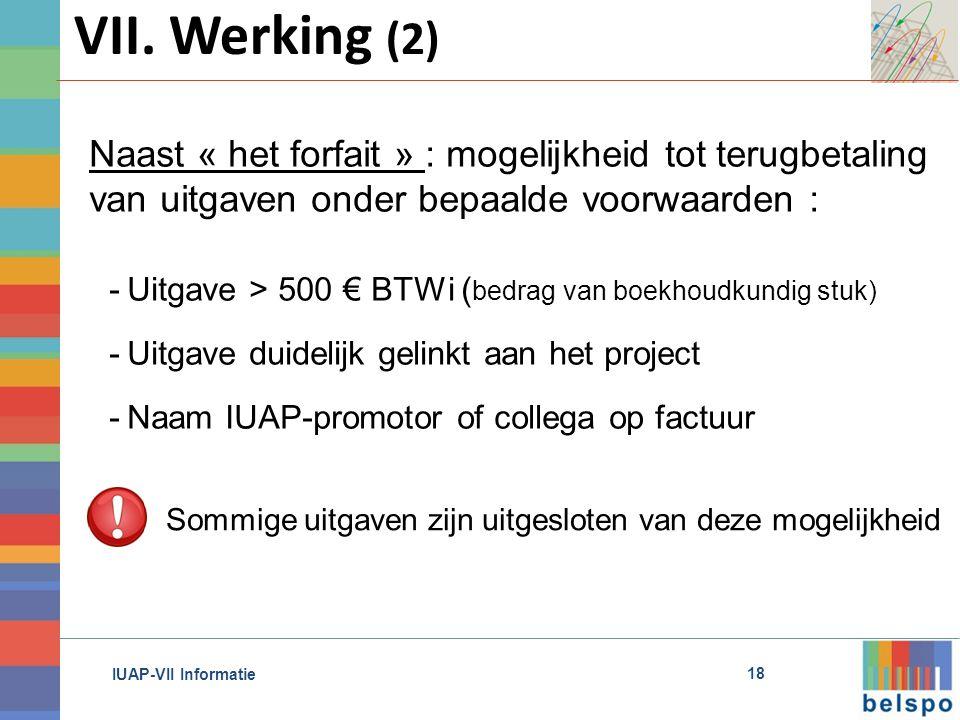IUAP-VII Informatie 18 VII.
