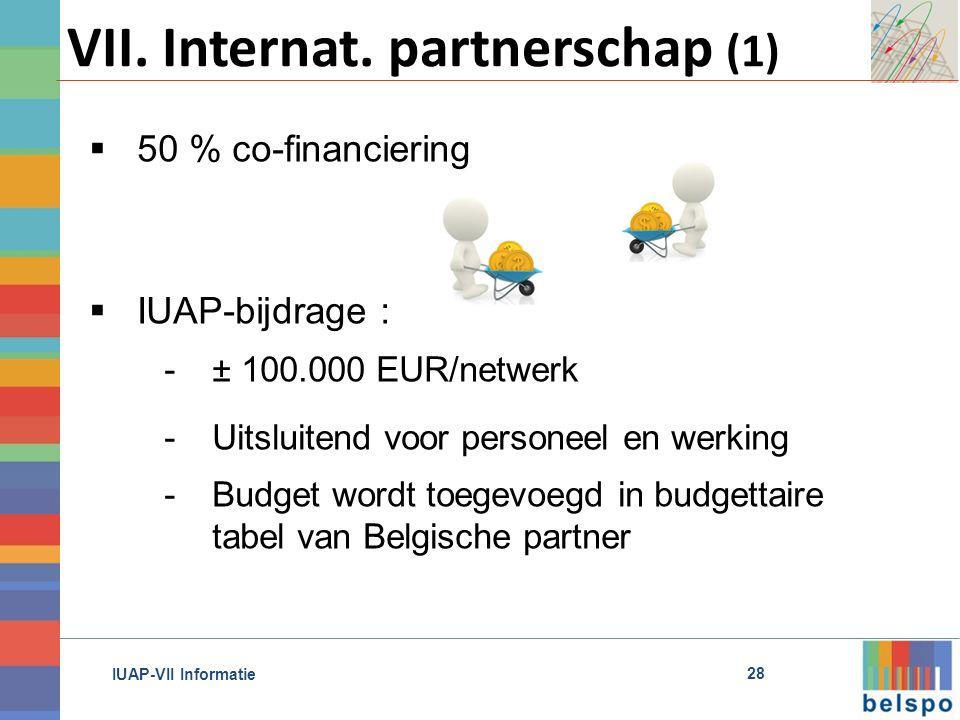 IUAP-VII Informatie VII. Internat.