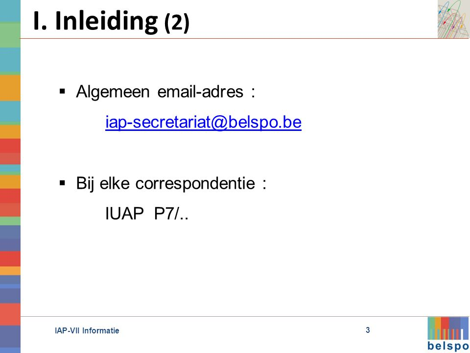IAP-VII Informatie I.
