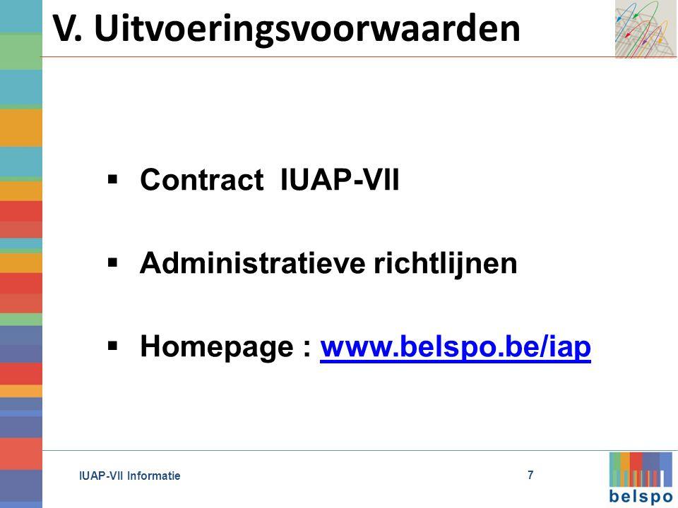 IUAP-VII Informatie V.