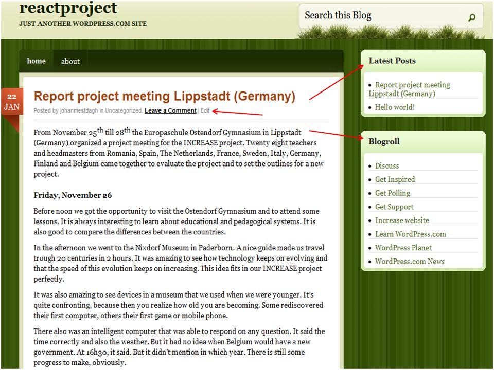 Onderzoekscompetenties en VOET-en 1 Onderzoekscompetenties Voorbeelden uit de klas Weblog