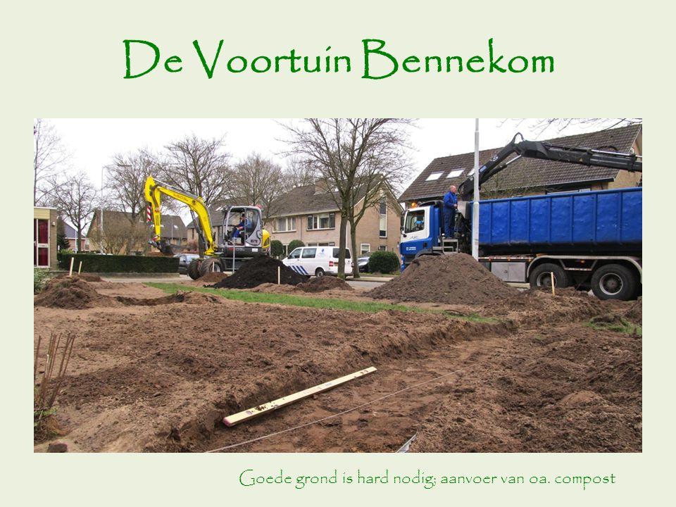 Goede grond is hard nodig; aanvoer van oa. compost