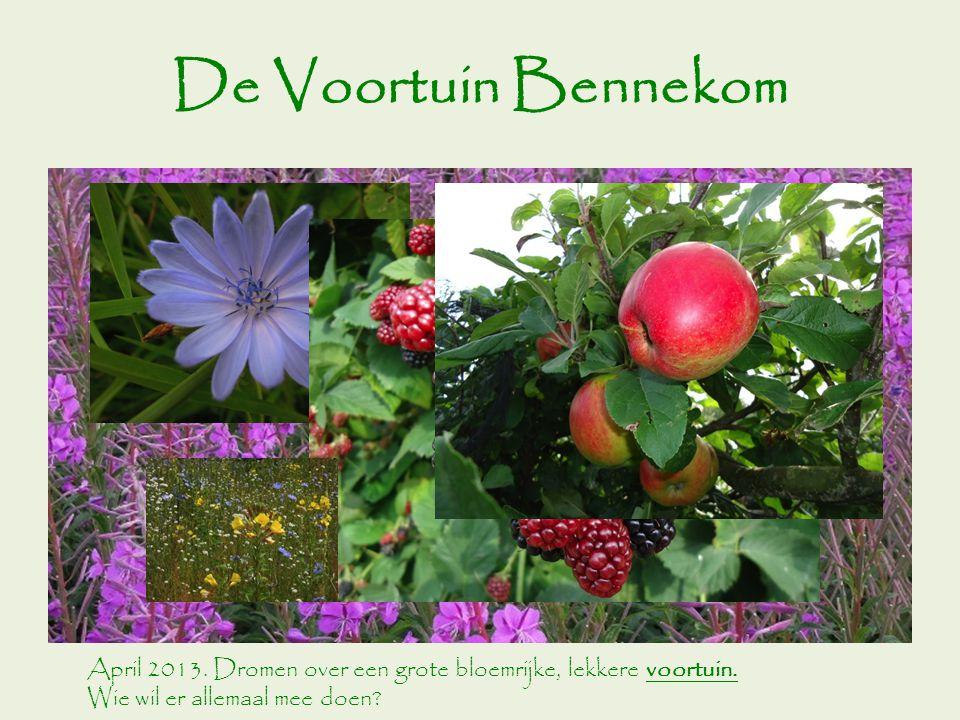 De Voortuin Bennekom April 2013.Dromen over een grote bloemrijke, lekkere voortuin.