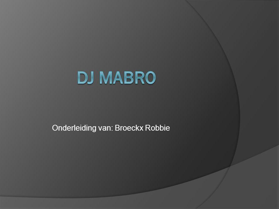 Onderleiding van: Broeckx Robbie