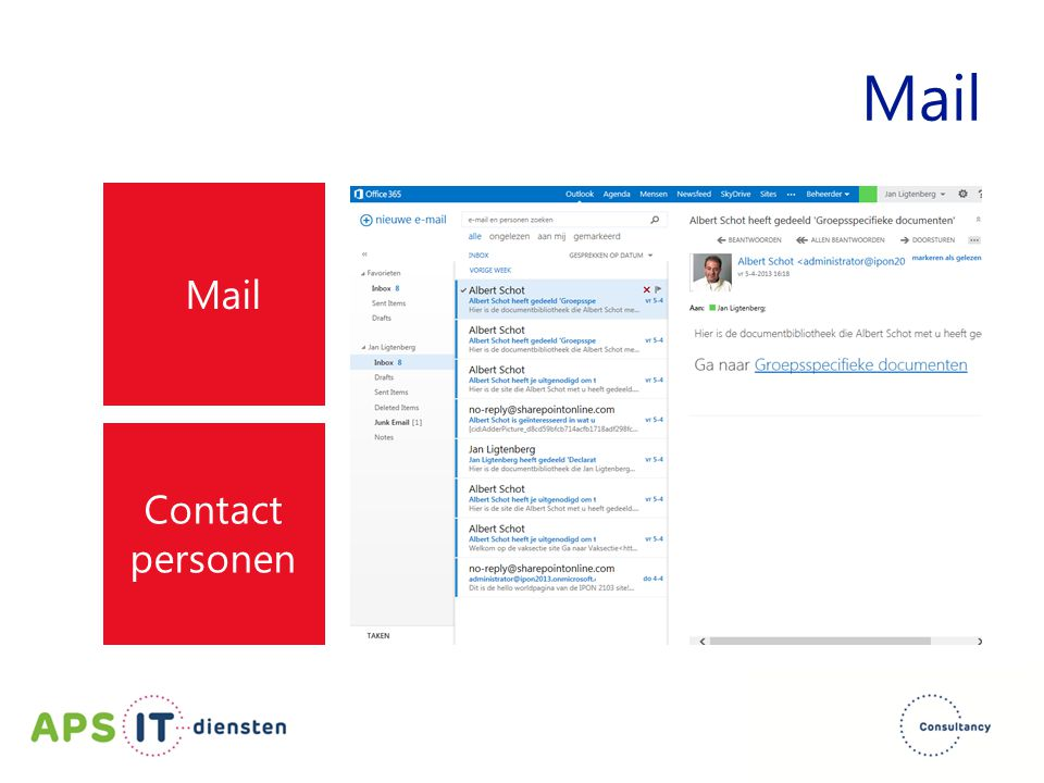 Mail Contact personen