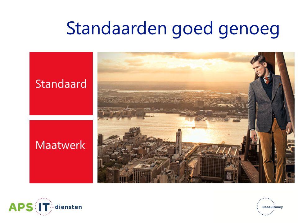 Standaarden goed genoeg Standaard Maatwerk