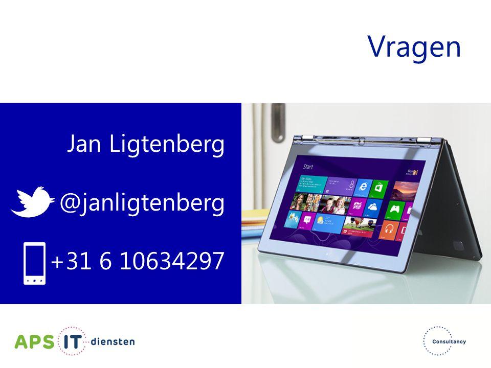 Jan Ligtenberg @janligtenberg +31 6 10634297 Vragen