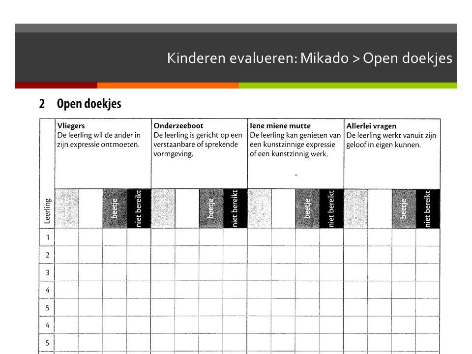 Kinderen evalueren: Mikado > Open doekjes