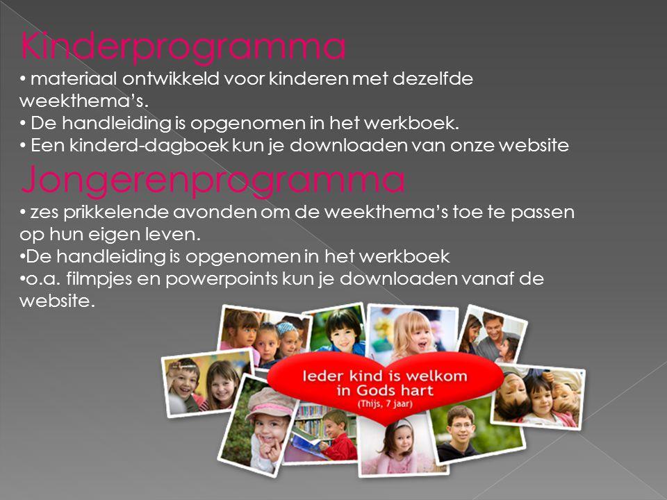 Kinderprogramma • materiaal ontwikkeld voor kinderen met dezelfde weekthema's.