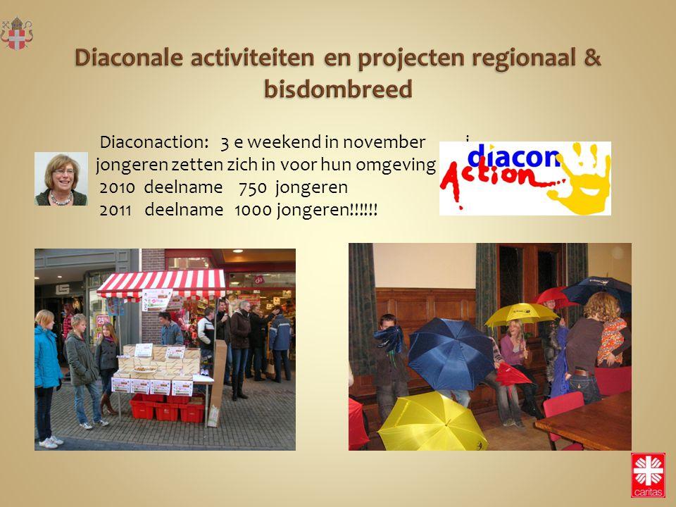 Diaconaction: 3 e weekend in november j jongeren zetten zich in voor hun omgeving 2010 deelname 750 jongeren 2011 deelname 1000 jongeren!!!!!!