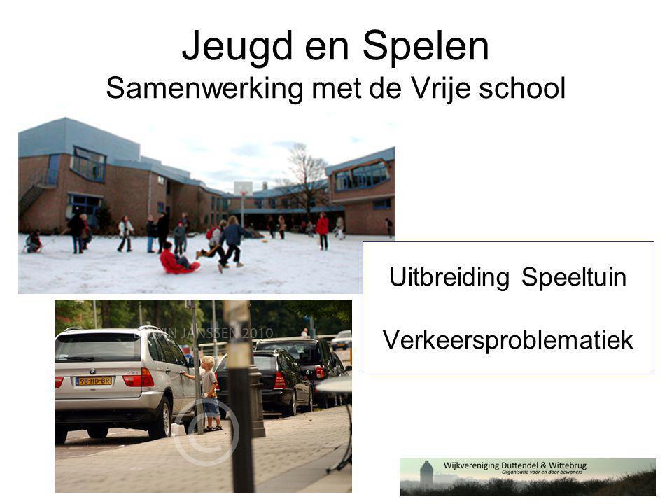 Jeugd en Spelen Samenwerking met de Vrije school Uitbreiding Speeltuin Verkeersproblematiek