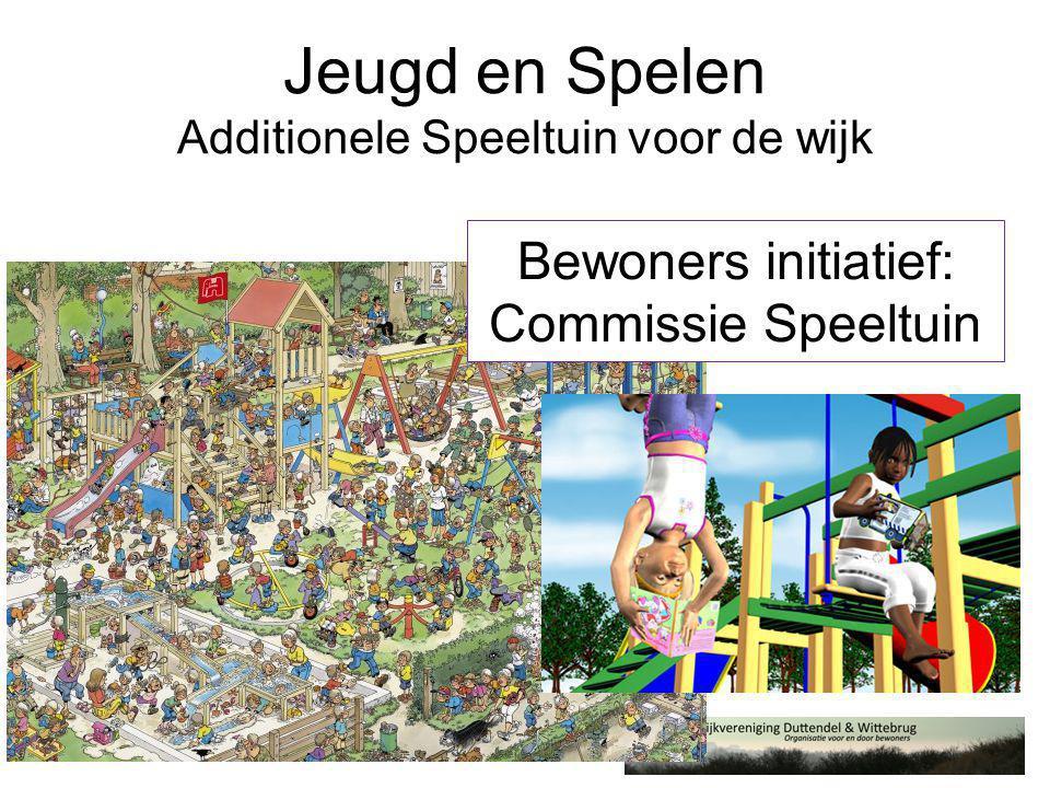 Jeugd en Spelen Additionele Speeltuin voor de wijk Bewoners initiatief: Commissie Speeltuin