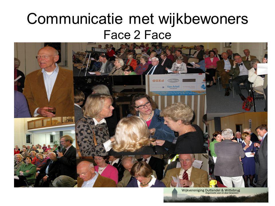 Communicatie met wijkbewoners Face 2 Face