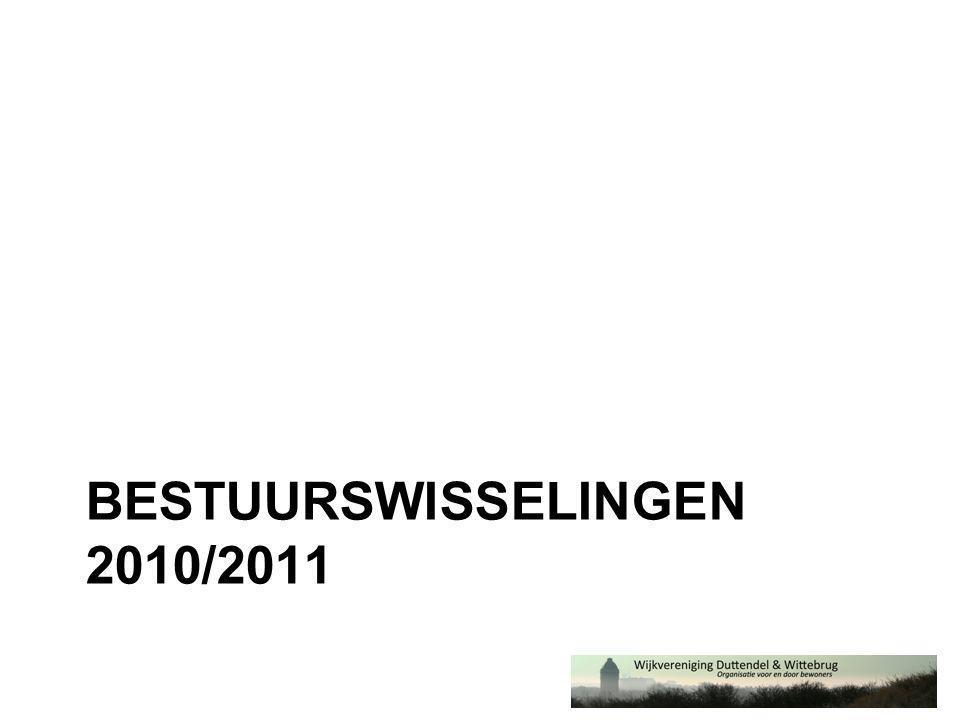 BESTUURSWISSELINGEN 2010/2011
