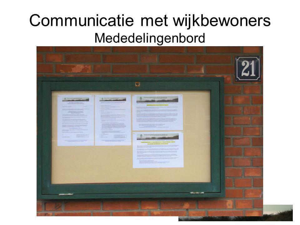 Communicatie met wijkbewoners Bad Gazet