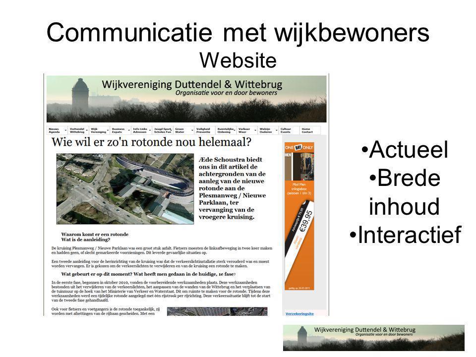 Communicatie met wijkbewoners Eclatant Succes