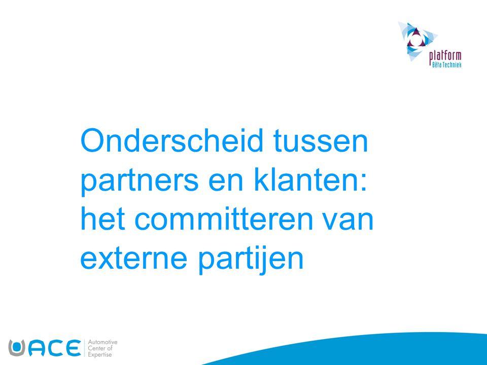 Onderscheid tussen partners en klanten: het committeren van externe partijen
