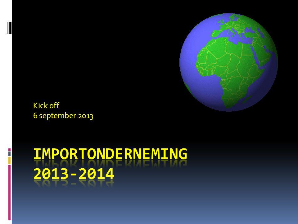 Kick off 6 september 2013