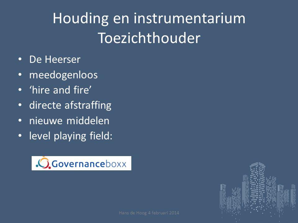 Bedankt voor uw aandacht Website: www.detoezichthouder.info Twitter: @Hans_de_Hoog Linkedin: Hans de Hoog Hans de Hoog 4 februari 2014