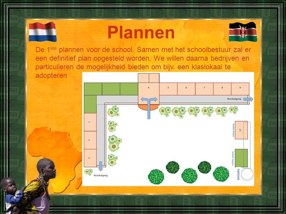 Plannen De 1 ste plannen voor de school.