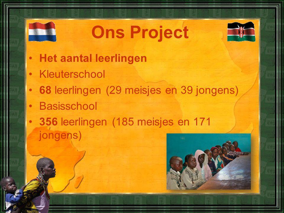 •Het aantal leerlingen •Kleuterschool •68 leerlingen (29 meisjes en 39 jongens) •Basisschool •356 leerlingen (185 meisjes en 171 jongens) Ons Project