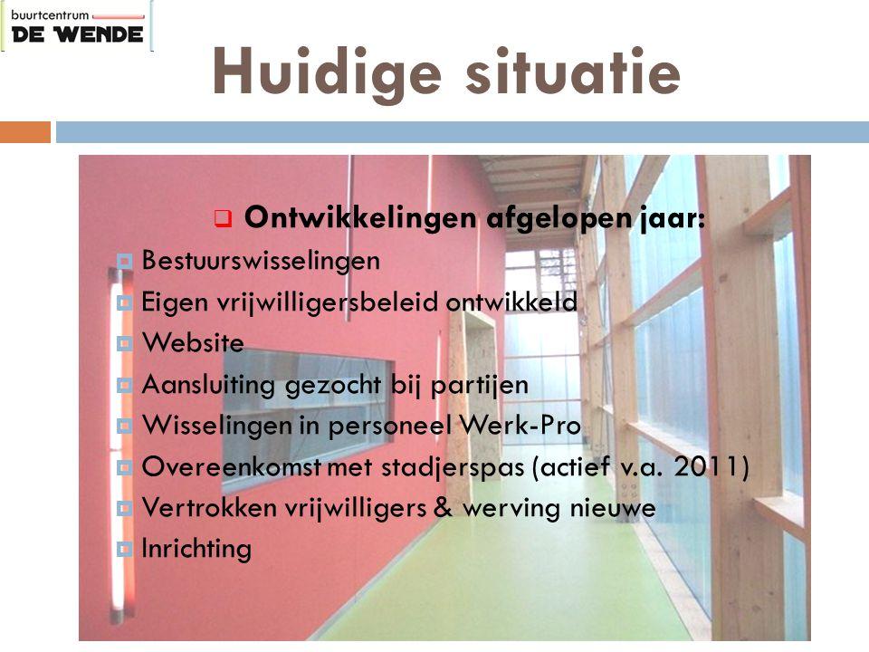 Huidige situatie Voorstellen nieuwe vrijwilligers & medewerkers