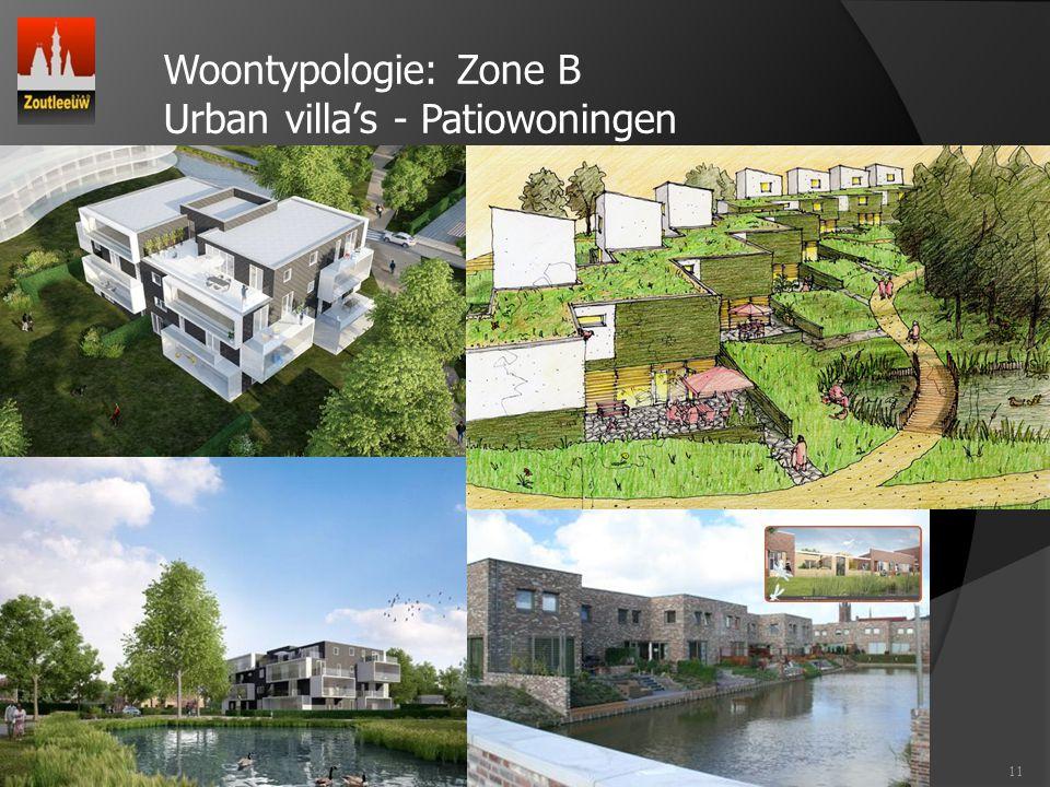 11 Woontypologie: Zone B Urban villa's - Patiowoningen