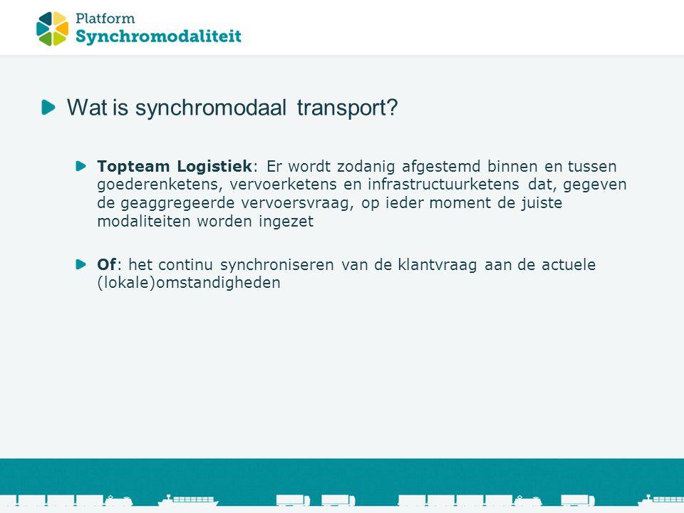 Wat is synchromodaal transport?