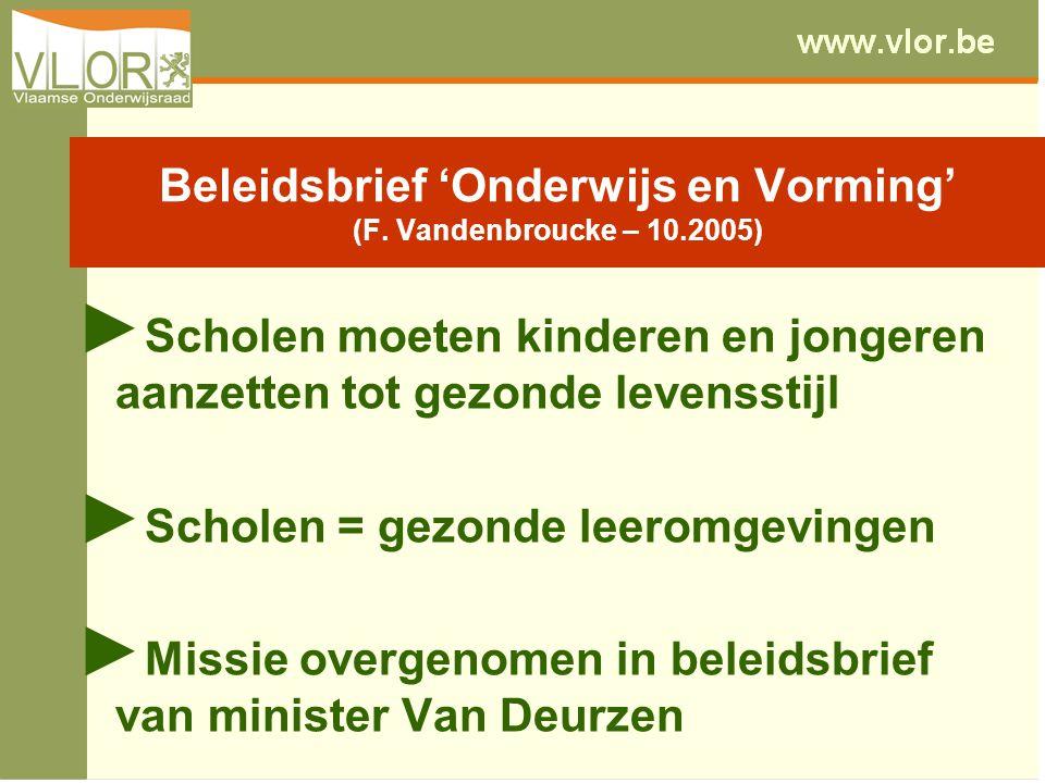 Beleidsbrief 'Onderwijs en Vorming' (F.