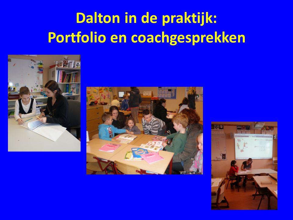 Dalton in de praktijk: Portfolio en coachgesprekken