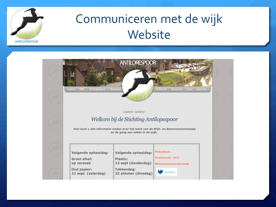 Communiceren met de wijk Website