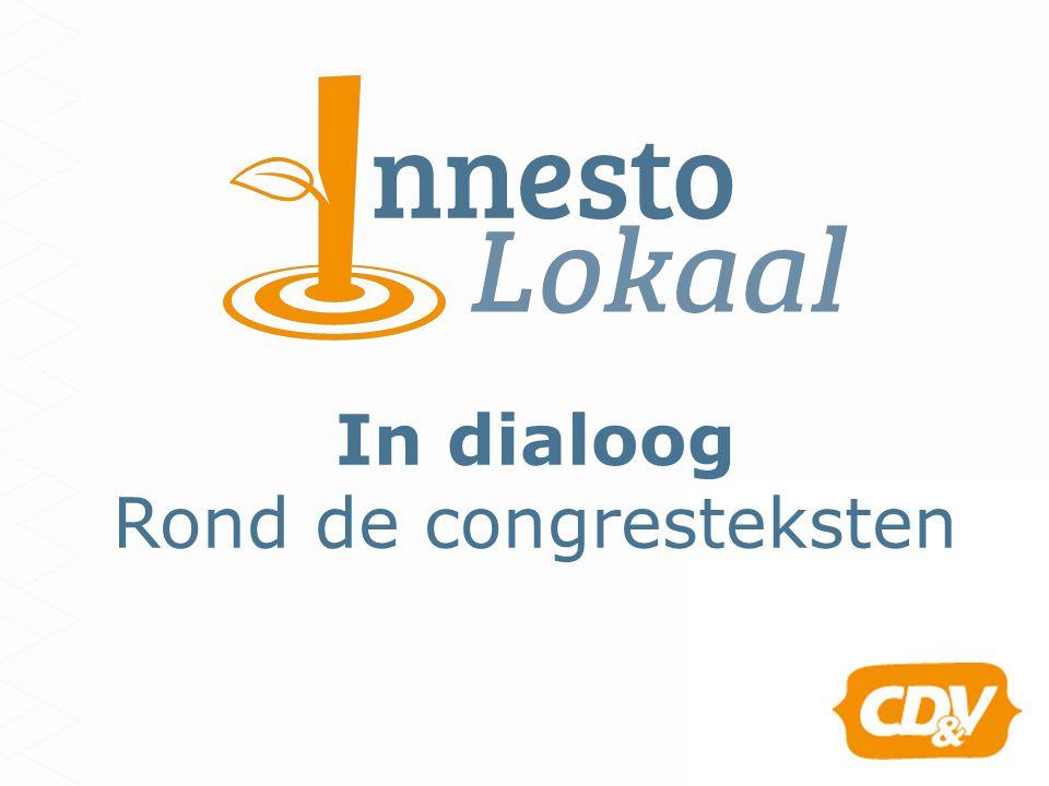 In dialoog Rond de congresteksten