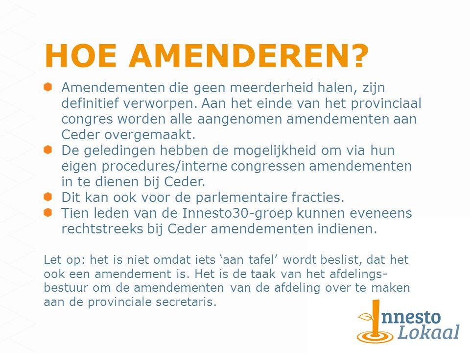 Amendementen die geen meerderheid halen, zijn definitief verworpen.