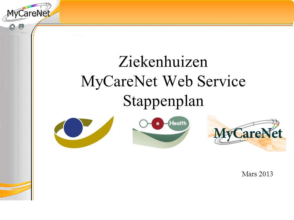 Ziekenhuizen MyCareNet Web Service Stappenplan Mars 2013
