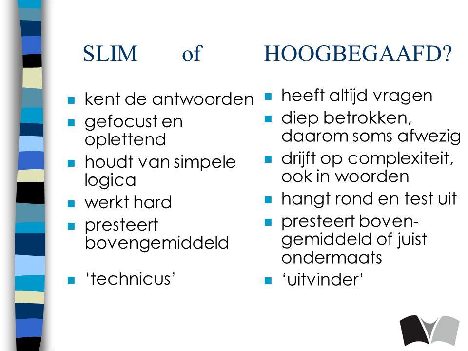 SLIM of HOOGBEGAAFD.