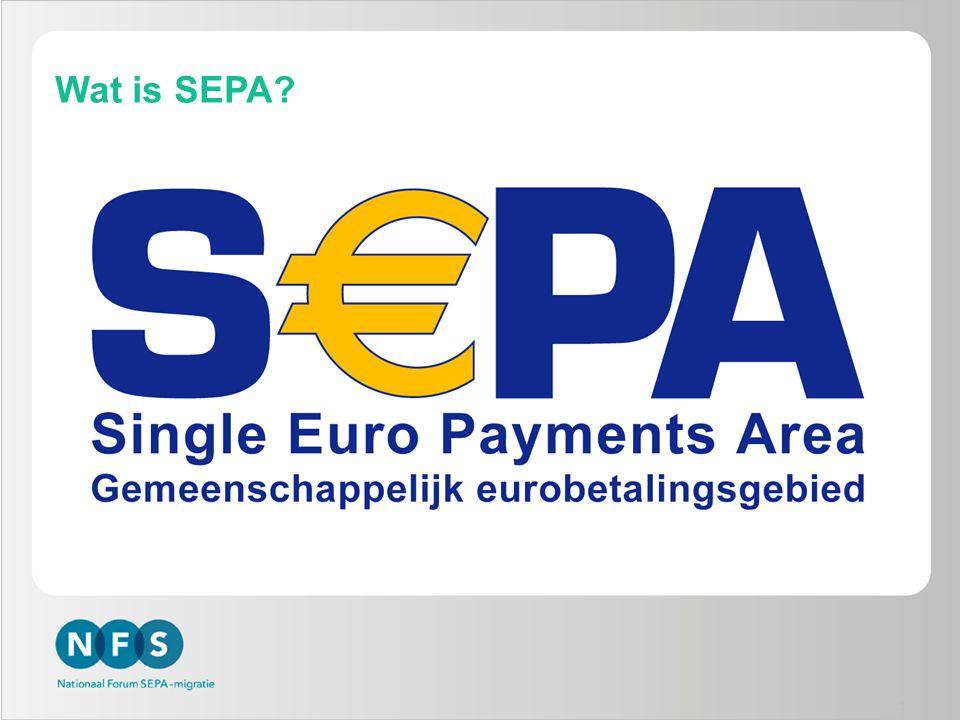 Verordening geeft einddata -Marktgedreven migratie naar SEPA onvoldoende -Regulation verplicht gebruik technische standaarden -Belangrijkste elementen: -Einddata gebruik niet-Europese overboekingen en incasso's in euro -1 februari 2014 voor binnenlandse betalingen -1 februari 2016 voor buitenlandse betalingen (in euro binnen SEPA) -Additionele consumentenbescherming -Alleen IBAN in klant-bank interactie -ISO20022 verplichte berichtenstandaard 14