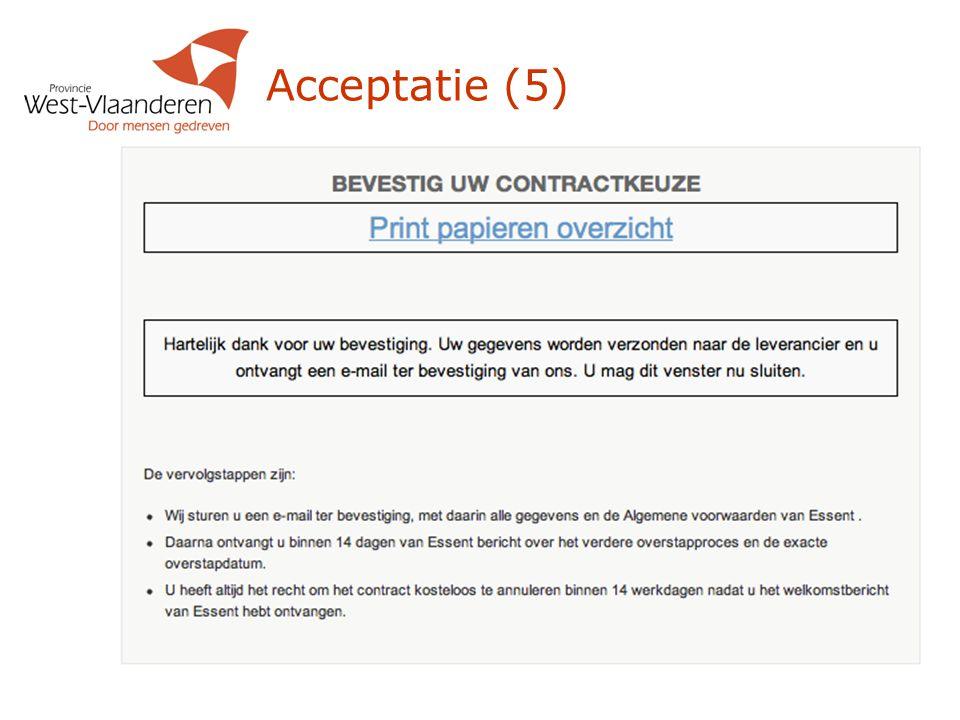 Acceptatie (5)