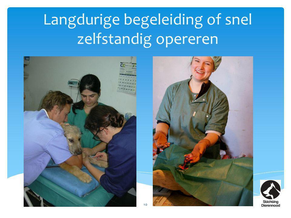 Langdurige begeleiding of snel zelfstandig opereren 10