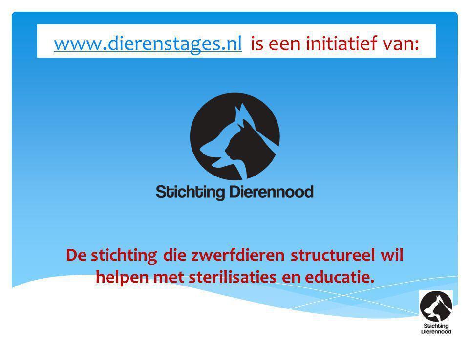 www.dierenstages.nl is een initiatief van: De stichting die zwerfdieren structureel wil helpen met sterilisaties en educatie.