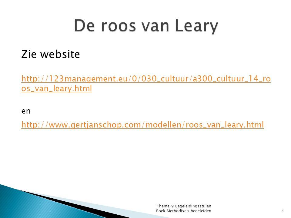 Zie website http://123management.eu/0/030_cultuur/a300_cultuur_14_ro os_van_leary.html en http://www.gertjanschop.com/modellen/roos_van_leary.html The