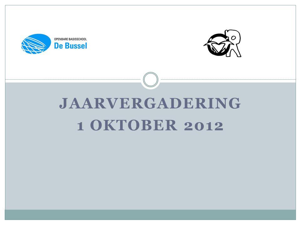 JAARVERGADERING 1 OKTOBER 2012