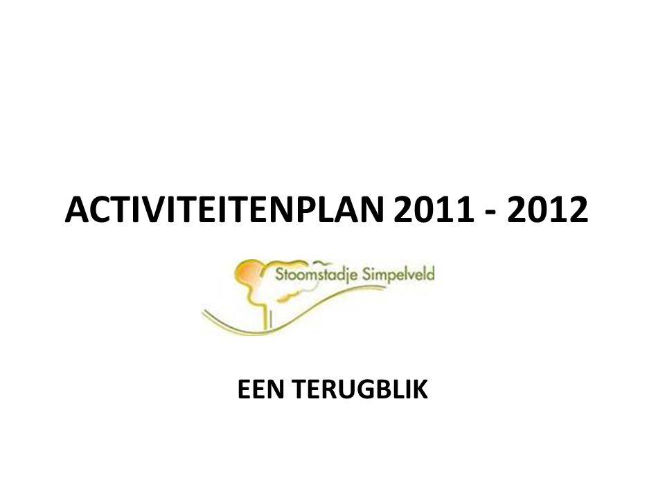 Activiteiten 2011- 2012 De doelstelling van de gemeente Simpelveld is: -> Het aantrekken van meer verblijfstoeristen -> Het aantrekken van meer dagrecreatieve bezoekers 1998 - 2007: stijging van toeristische bestedingen in de gemeente Simpelveld met 112%, van 3,57 miljoen euro naar 8,64 miljoen euro.