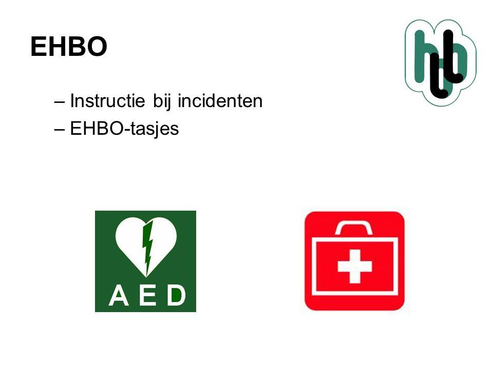 EHBO –Instructie bij incidenten –EHBO-tasjes