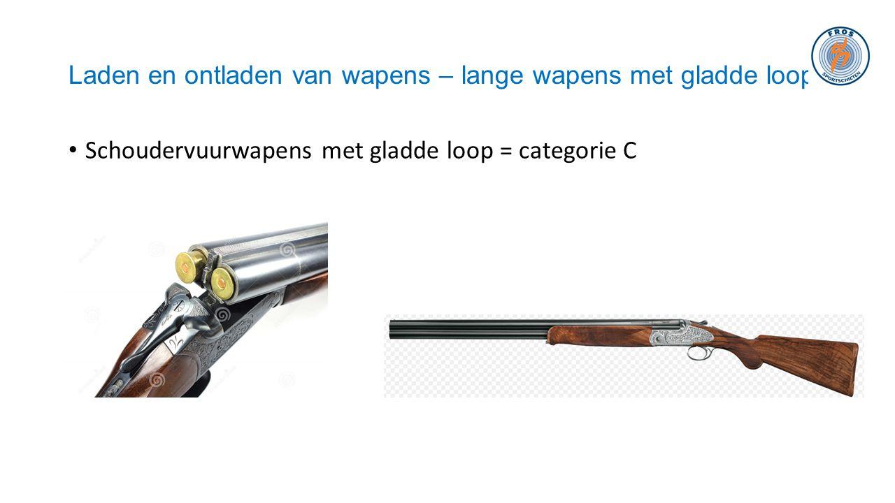 Laden en ontladen van wapens – lange wapens met gladde loop • Schoudervuurwapens met gladde loop = categorie C