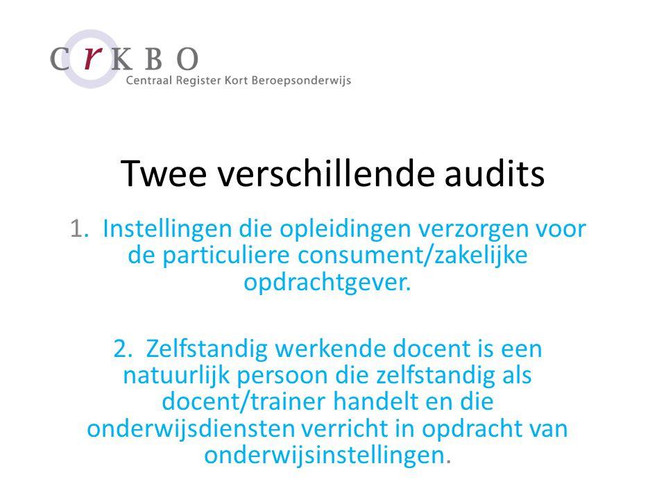 Twee verschillende audits 1.