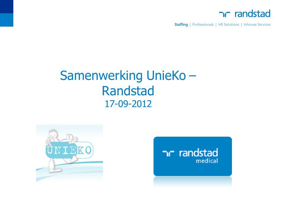 Samenwerking UnieKo – Randstad 17-09-2012
